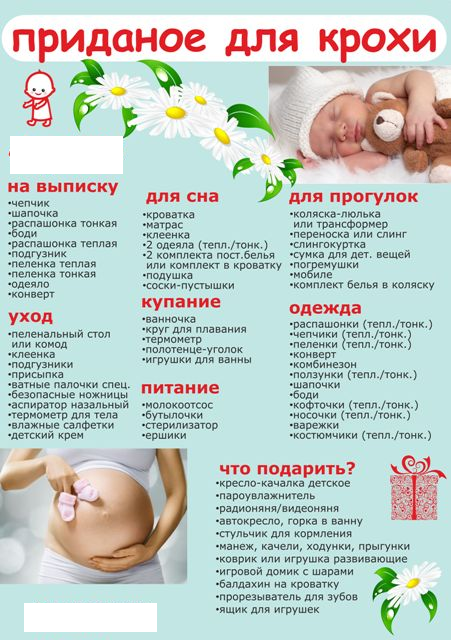 Что купить новорожденному список вещей