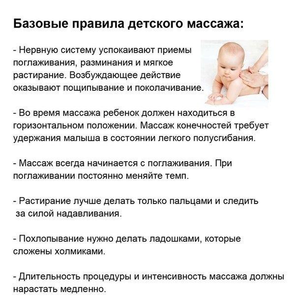 Схема массажа детям